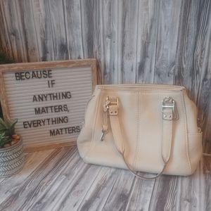 Fossil Blackburn Leather Satchel Shoulder Handbag